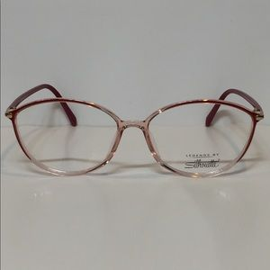 2039b7d0a5c ... Glasses New Silhouettes SPX 3502 6079 crystal red plastic ...